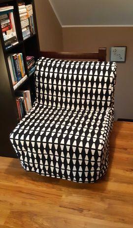 IKEA LYCKSELE MURBO - Fotel rozkładany do spania, czarno-biały