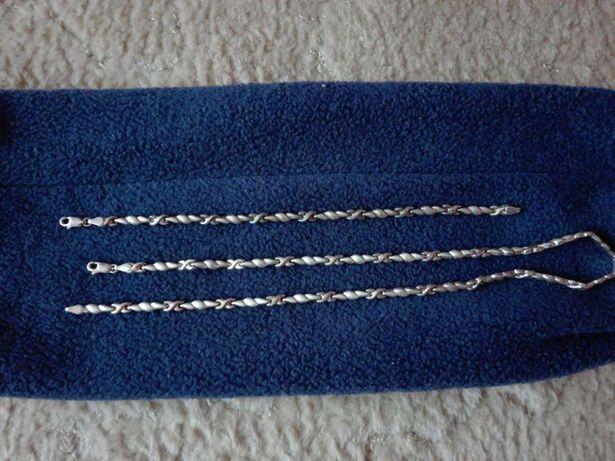 Łańcuszek i bransoletka srebrna
