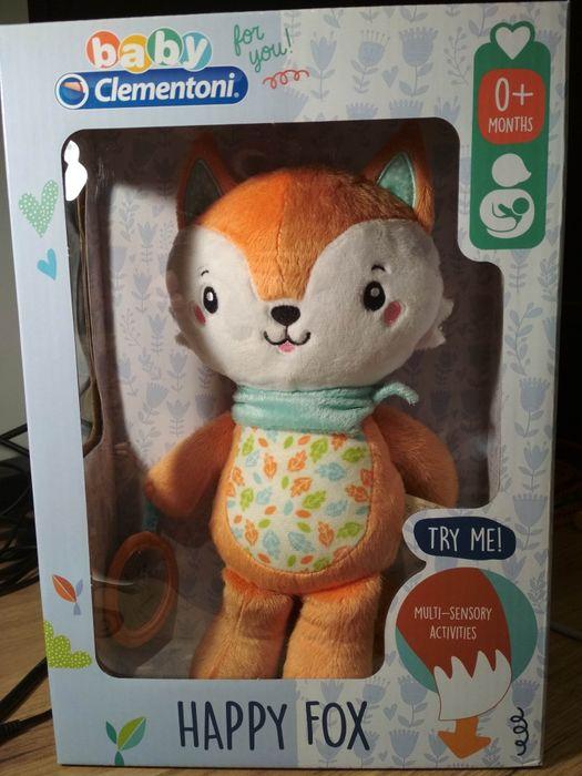 Maskotka sensoryczna Happy Fox Baby Clementoni 0+ Rudy Lisek wibracje Bibice - image 1