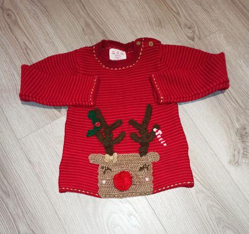 92 F&F sweter sweterek świąteczny Boże Narodzenie