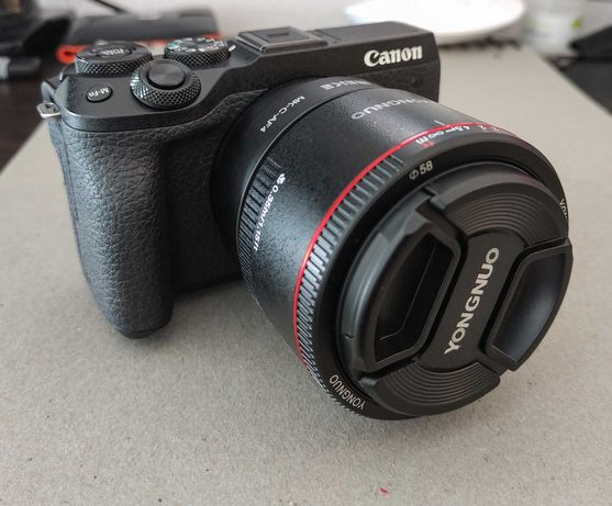 Canon M6 Mark II + 2 objetivas+Viewfinder+tripé+bolsa (Garantia 2anos)