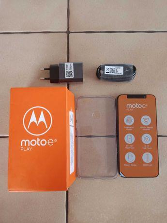 Moto e6 play 2/32 black nowy gwarancja case