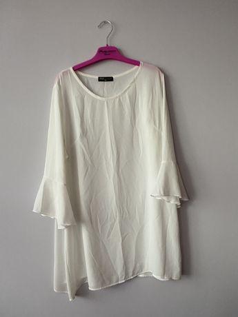 Bluzka koszula biala mgielka