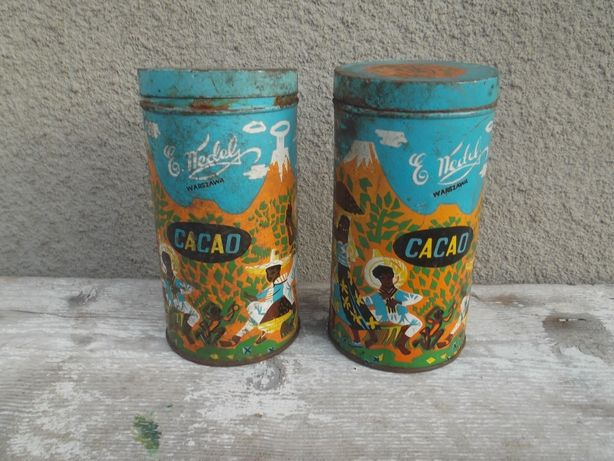 PRL ,Wedel'' Puszki Cacao .