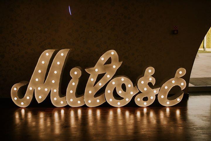 Napis MIŁOŚĆ litery imprezowe Wieluń - image 1