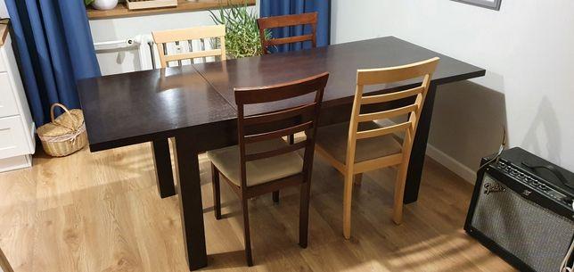 Solidny stół 140x80 plus wkładka 60cm