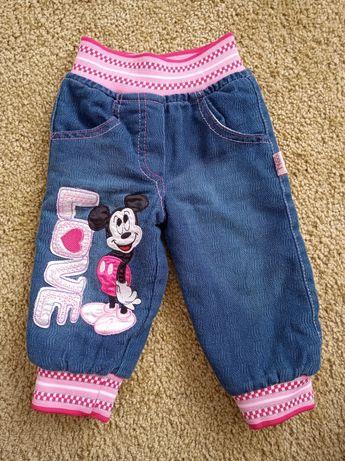 Джинси штани утеплені 6-12м