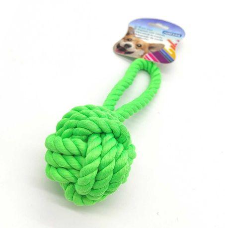 ZABAWKA dla psa sznur WĘZEŁ supeł szarpak gryzak zielony 18 CM aport