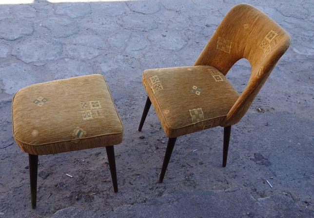 Krzesło muszelka typ 1020 B/ Jerzy B + taboret