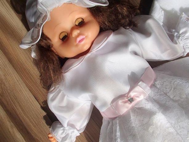 Komplet na chrzest, biały, sukienka dla dziewczynki wesele r74 r80