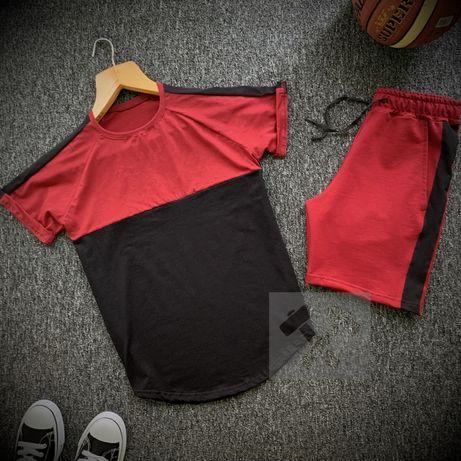 Мужской летний спортивный комплект/костюм. Футболка + шорты