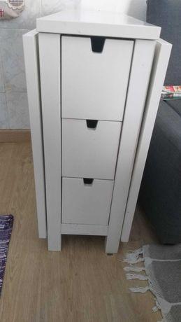 Mesa branca Ikea com abas rebativeis