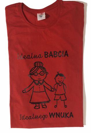Koszulka z nadrukiem - Idealna Babcia Idealnego Wnuczka