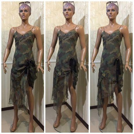 Сексуальное платье - 100% шелк, john richmond, i-42/xs-s