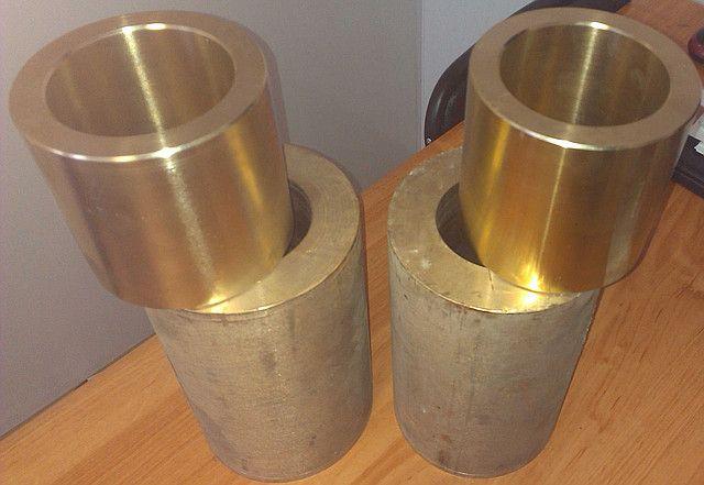 Втулки бронзовые БРАЖ 9-4, ОЦС 5-5-5, латунные ЛС59-1 изготавливаем