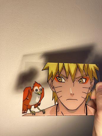 Naruto Uzumaki glass painting anime
