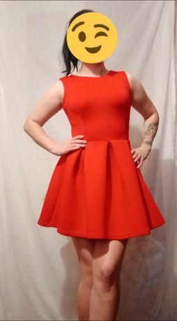 Платье тюльпан красного цвета
