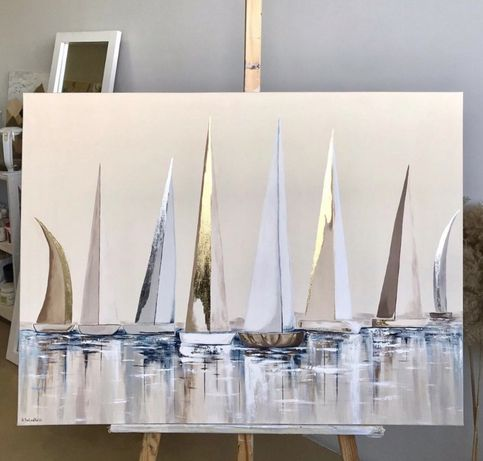 Картина парусники, регата, интерьерная картина , картина море