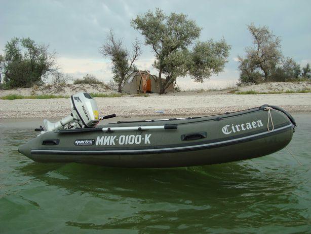 Надувная лодка Sportex Шельф-310 с мотором  Honda BF5A