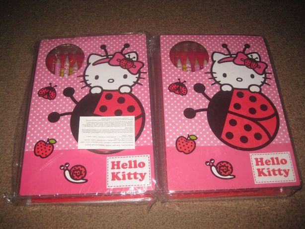 """2 Estojos de Pintura """"Hello Kitty"""" Novos e Selados!"""