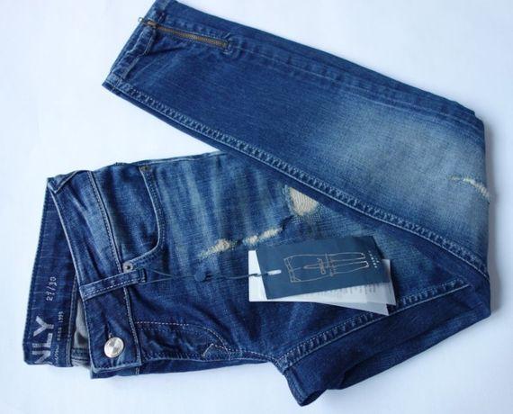 nowe RURKI jeansy 34/XS Vero Moda WYCIERANE długość ankle SKINNY