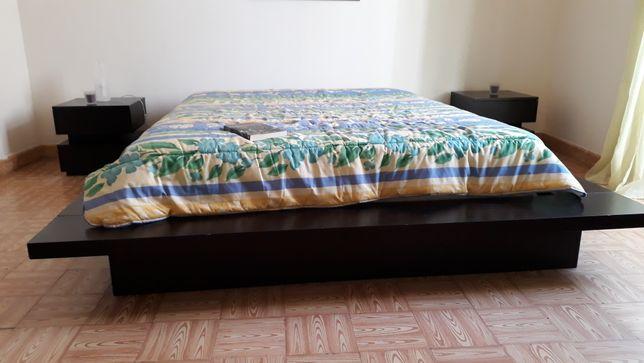 Mobília de quarto de casal em wengué preto