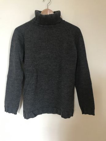 Camisola em lã gola alta cor cinza da Kookai tamanho M