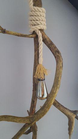 Lampa wiejska, skandynawska, żarówka Edison - handmade