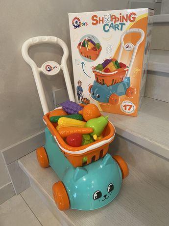Візочок Котик/ корзина для супермаркету дитяча/ тележка (АКЦІЯ 2 шт!)