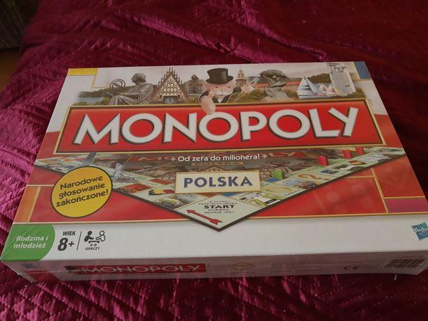 Nowa Oryginalna gra MONOPOLY POLSKA Hasbro monopol
