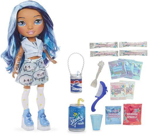 Кукла Пупси Слайм Рейнбоу Хай Голубая Леди Скай Rainbow Surprise Blue