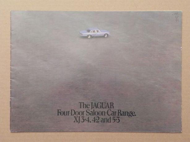 Prospekt - JAGUAR XJ SERIES II - 1977 r