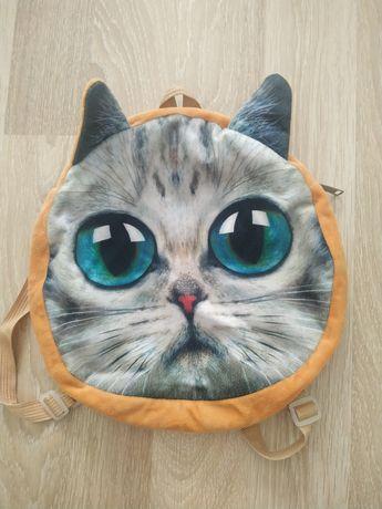 Милый детский рюкзак - котик