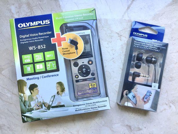 Новый Диктофон Olympus WS-852 4GB + микрофоны ME-52