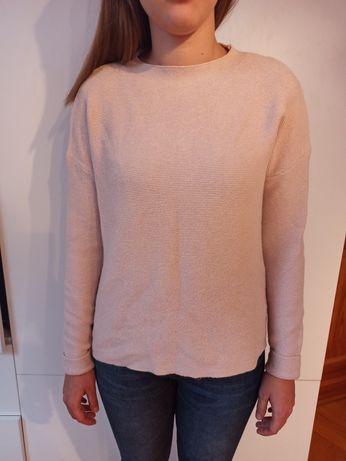 Sweter sweterek pudrowy róż rozm S