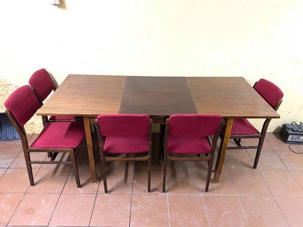 Stół rozkładany + 3 krzeseł SUPER