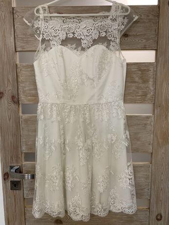 Sukienka suknia ślubna ślub cywilny, rozmiar 40