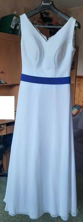 Klasyczna suknia ślubna r. 38 z gratisem