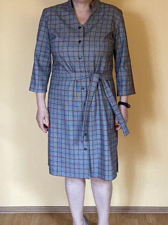 Sukienka w kratkę XL