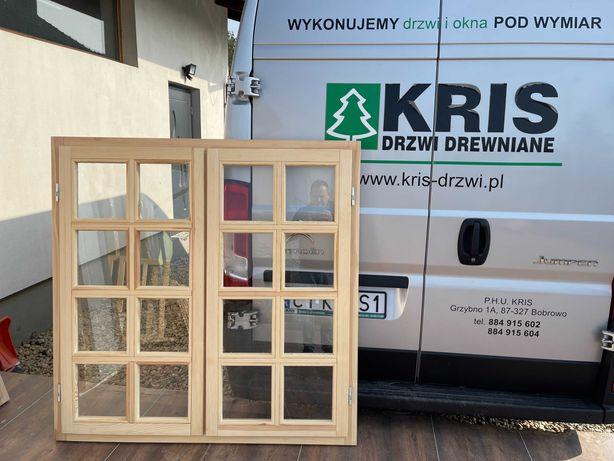 Okno drewniane ze szprosami 140x140 Dostawa cała Polska OD RĘKI