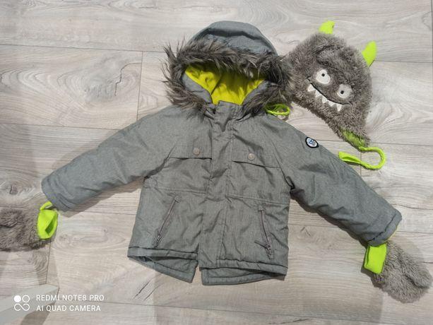 Kurtka zimowa i czapka  Cool Club  rozmiar 86