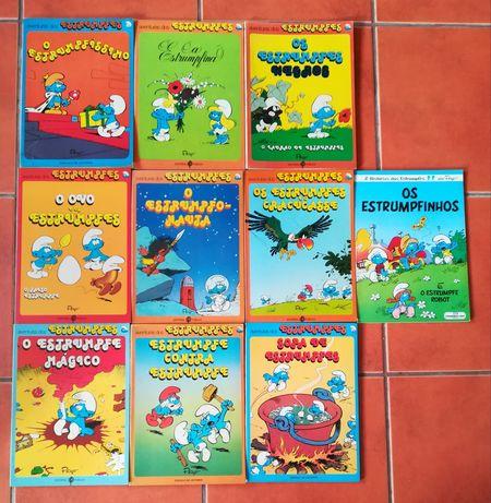 11 Livros os Estrumpfes (Smurfs)
