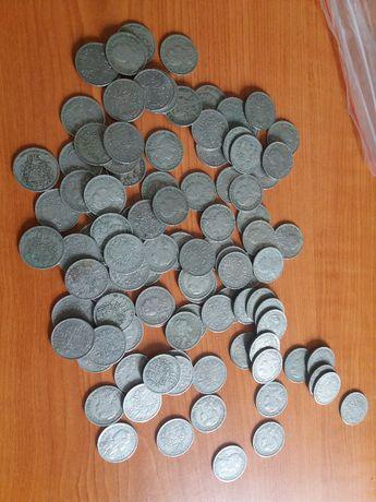 Lote de 100 moedas de 50 Centavos Alpaca