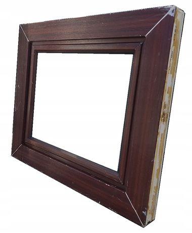 okna kacprzak okno pcv 67x57 używane mahoń