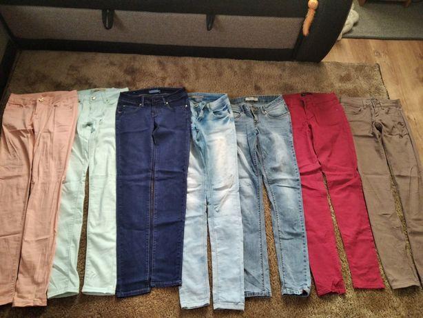 Spodnie 8 par różne roz. 34