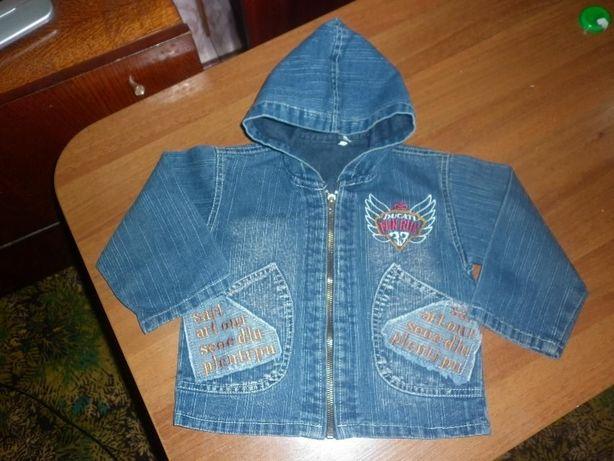 Джинсовая куртка до 2 лет