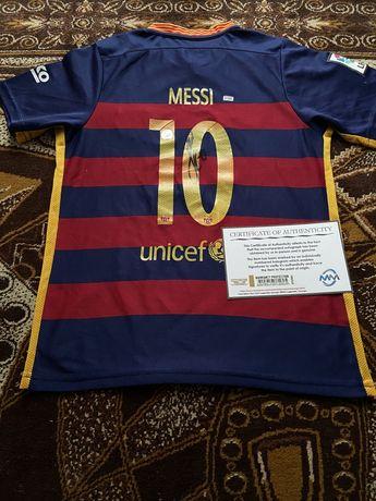 Koszulka Lionel Messi FC Barcelona oryginalny autograf Certyfikat