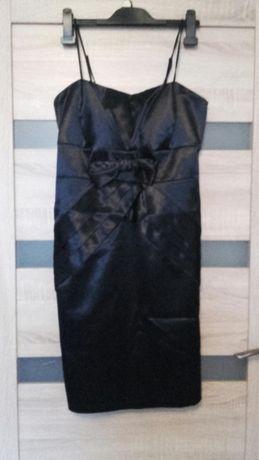Śliczna granatowa sukienka rozmiar 40 - sylwester studniówk