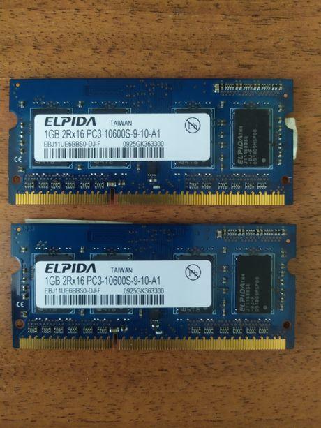 Оперативная память DDR3 SO-DIMM 2*1 ГБ