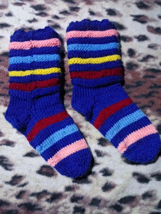 Вязаные шерстяные носки Покровское - изображение 1